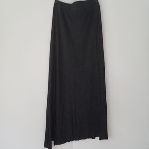 Madewell Speckled Gray Maxi Skirt with Side Slits